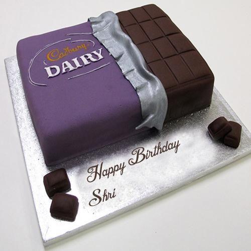 Birthday Wishes Dairy Milk Cake Name Write Profile Image