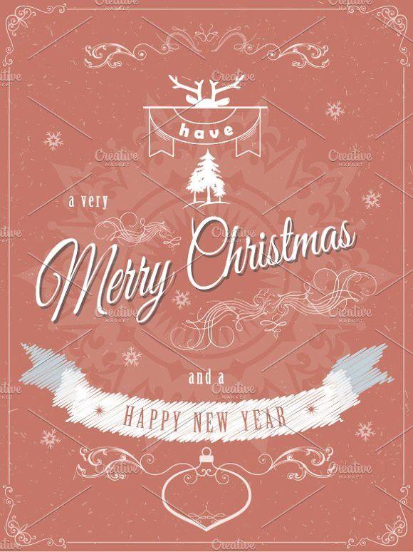 Christmas greeting card template Postcard Design Christmas