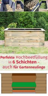 Perfect raised bed filling in 6 layers - also for new gardeners - wesel.blog | DIY - hand let...