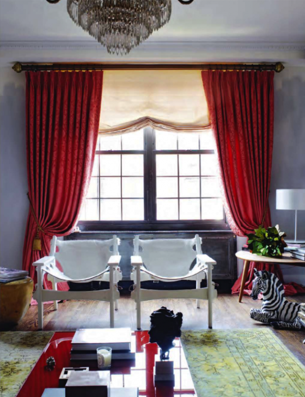 Red curtains, such lovely drama in 2019 | Living room red ...