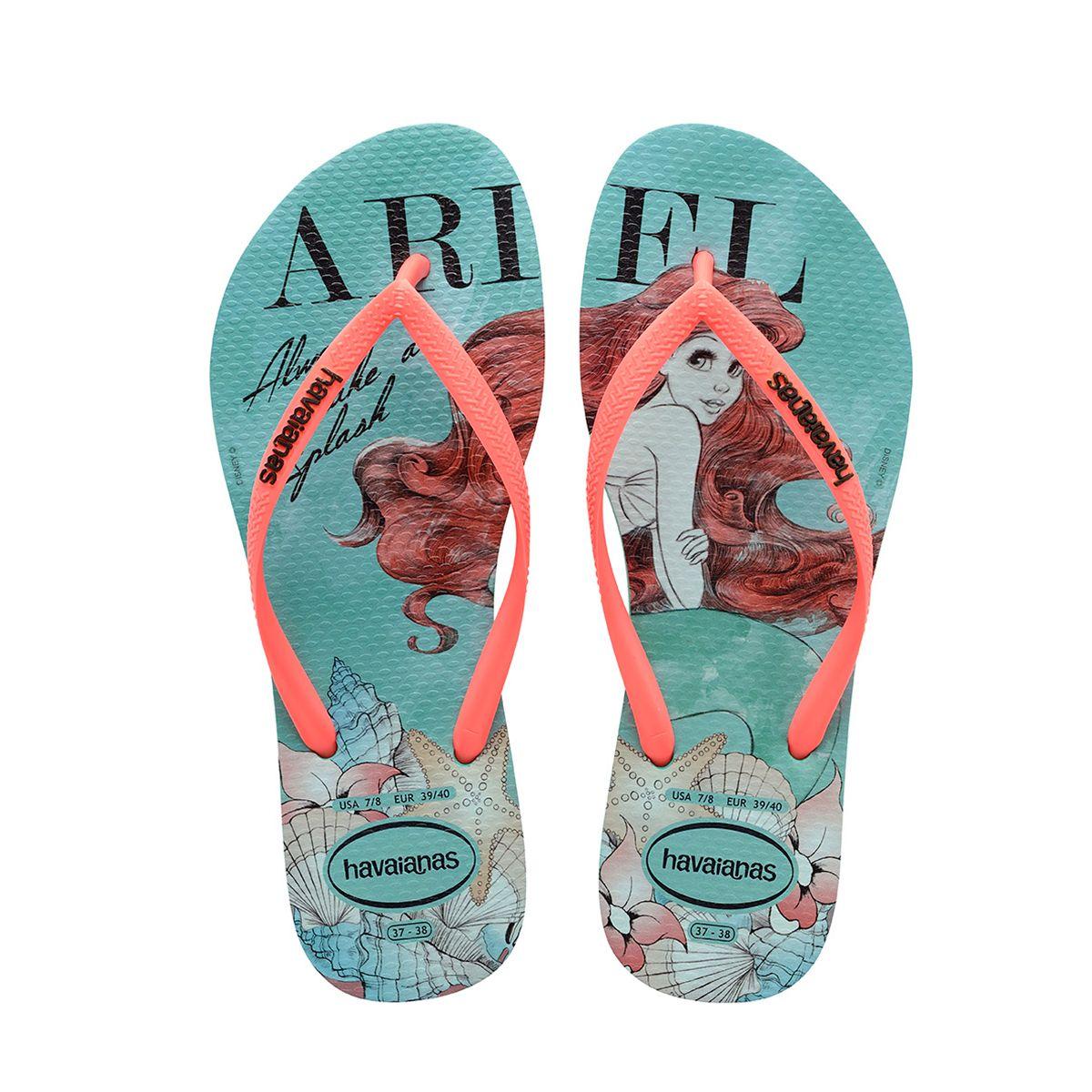 c483097d994 Women s Ariel Flip Flops- Disney Princess Sandals for Adults ...