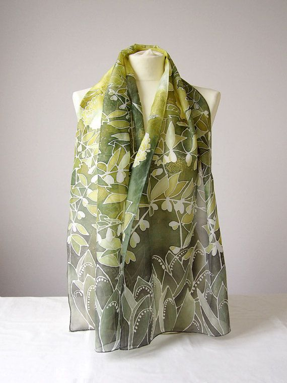 long silks scarves lily of the valley scarf flower silk