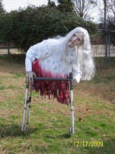 this would be so easy walkers can be found at thrift stores and yard zombie halloween decorationsscary