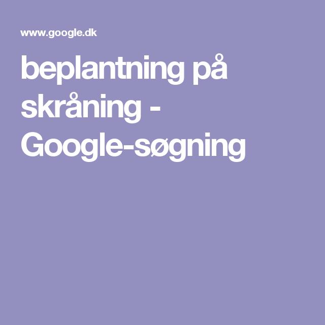 beplantning på skråning - Google-søgning