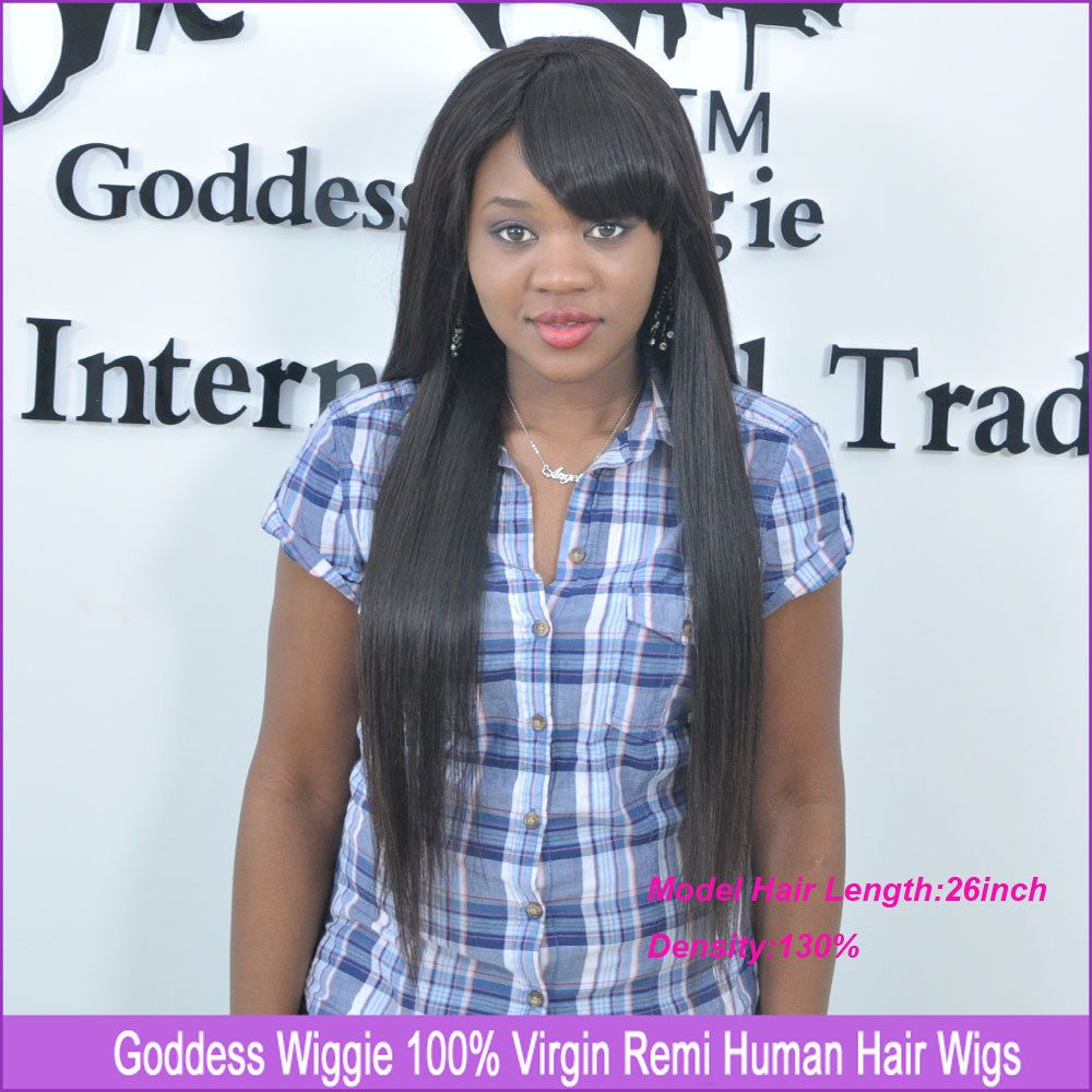 Find More Wigs Information about Straight Full Lace Human Hair Wigs