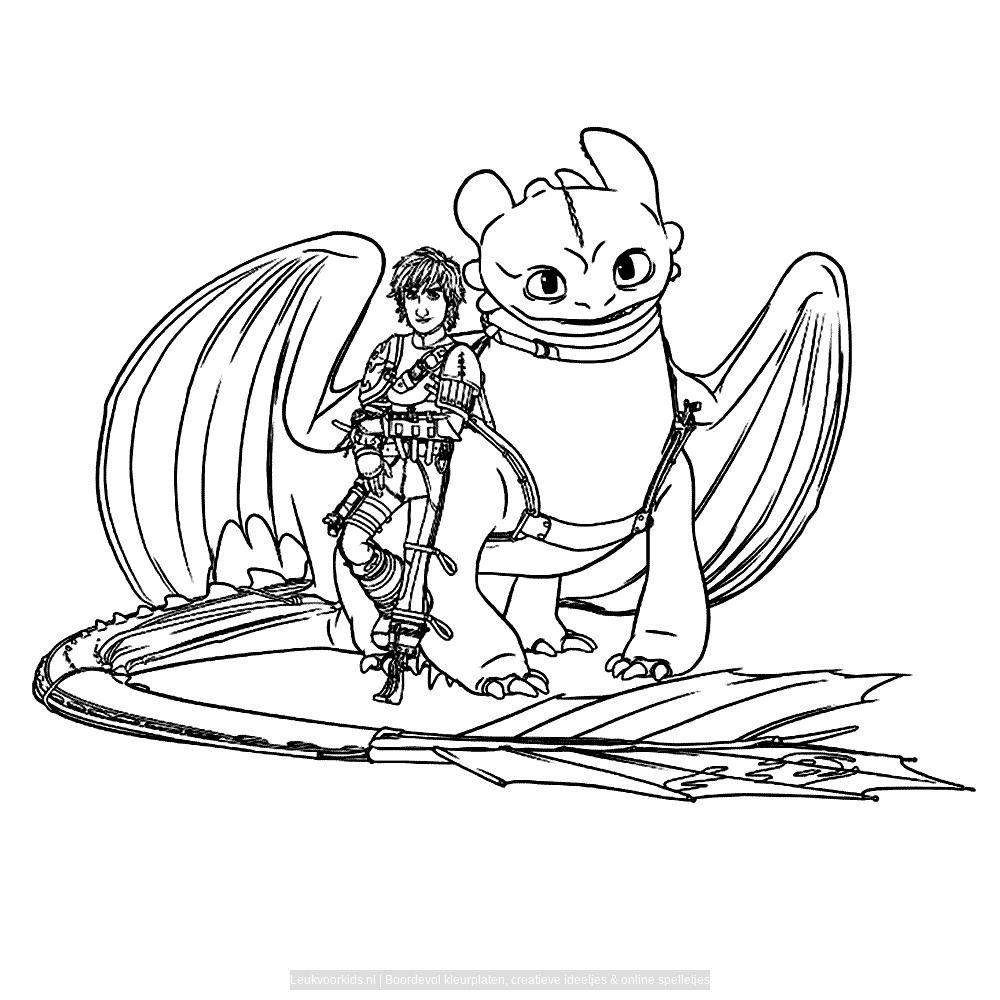 Leuk Voor Kids Hoe Tem Je Een Draak 2 0006 Kleurplaten Voor Kinderen Draken Tekeningen Draken Feestje