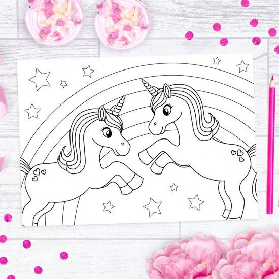 Free Unicorn Colouring Printables Unicorn Coloring Pages