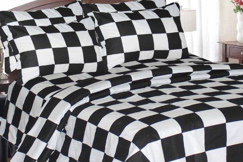 Amazon Com Regal Comfort Queen Full Size Reversible Checkered Flag Racing Comforter Only Nascar Bedding Comforters And Sets King Sheet Sets Bedding Sets