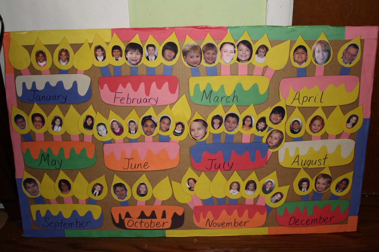 Birthday Chart Ideas For Nursery - Celebrating student ...
