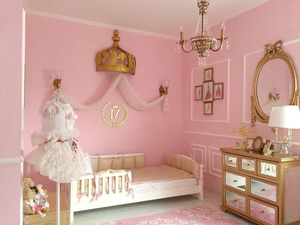 Malona's Pink and Gold Classic Parisian Nursery. Toddler Princess RoomToddler  Girl ...