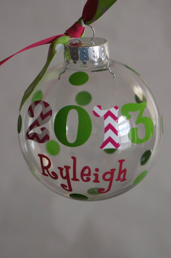 Personalized Christmas Ornament by ThePinkCrab on Etsy ...