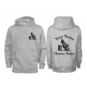 Adult Personalised Barrel Racing Horse Hoodie-Mine and Peyote's names!