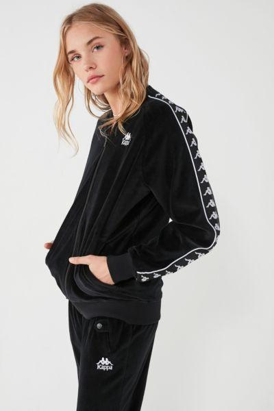 Kappa+ UO Mivvie Velour Track Jacket | Urban Outfitters