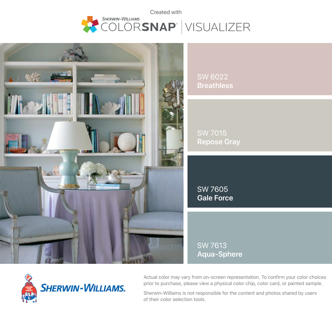 I Found These Colors With Colorsnap Visualizer For Iphone By Sherwin Williams Breathless Sw 6022 Repose Gray Sw 7015 House Colors Repose Gray New Homes