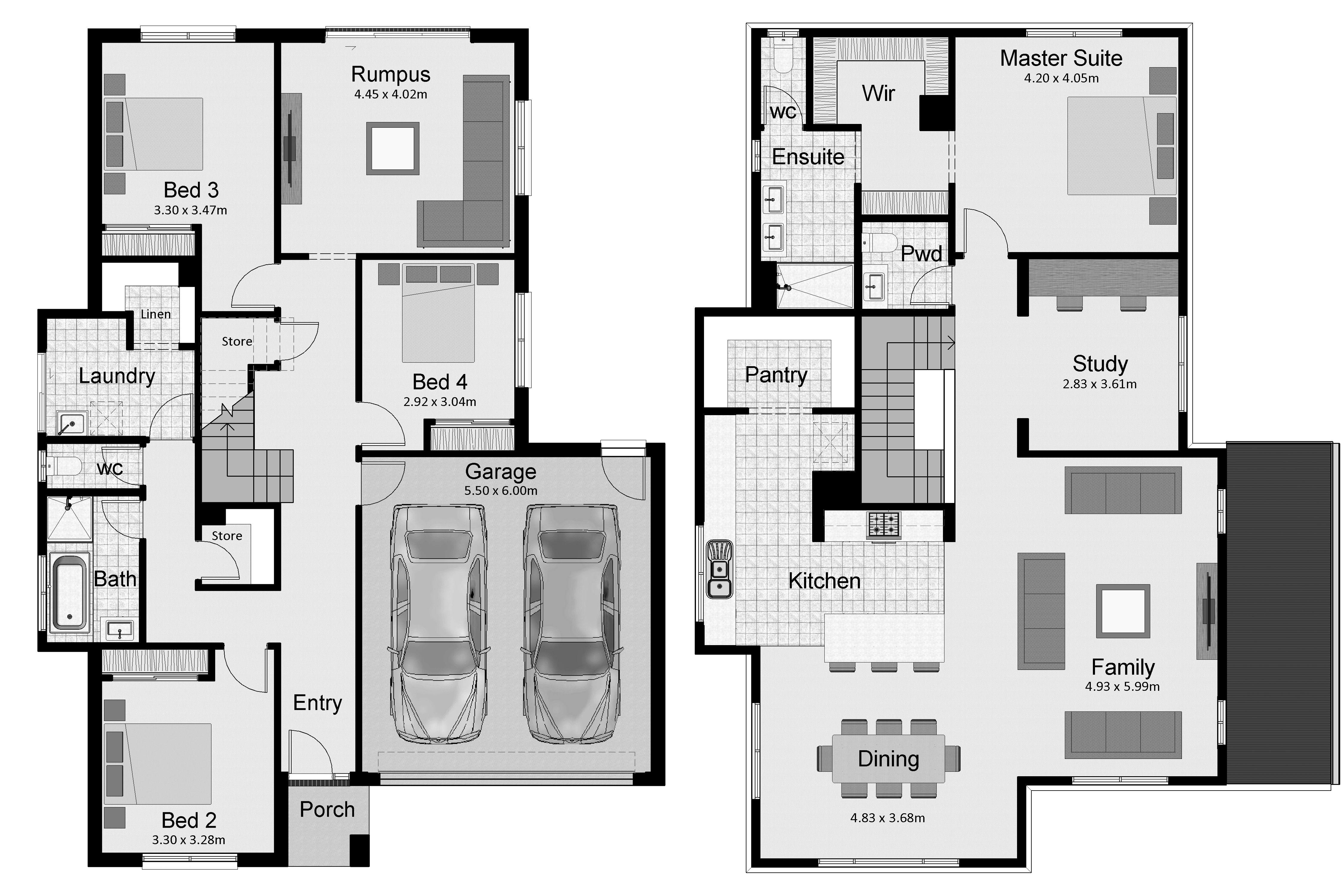 The esplanade hotondo homes house plans australia upside down storey also best reverse living images floor plan design rh pinterest