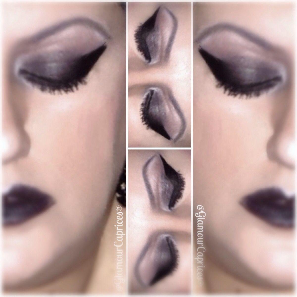 #makeupoftheday #avon #eyeshadows #blackeyeliner #kiko #blacklipstick #stargazer