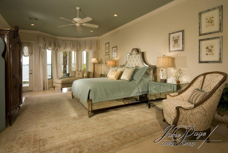 Master Bedroom - painted accent ceiling For the home Pinterest