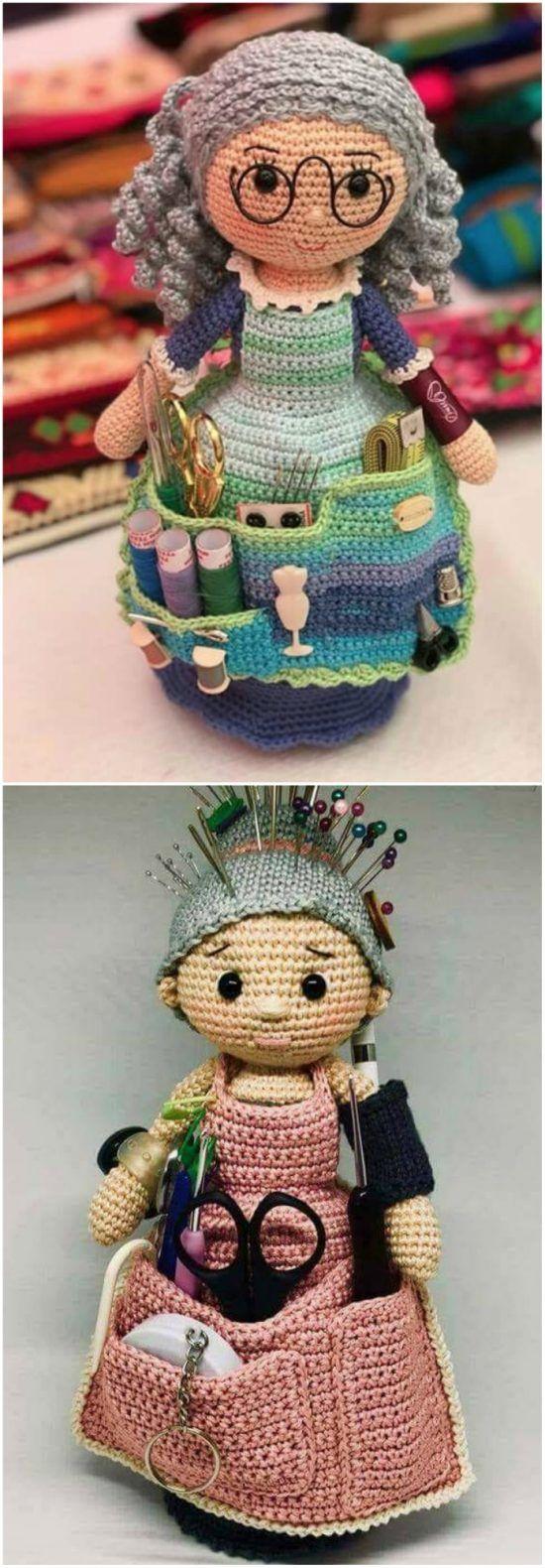 Crafter Granny Crochet Doll Free Pattern #gratismønster