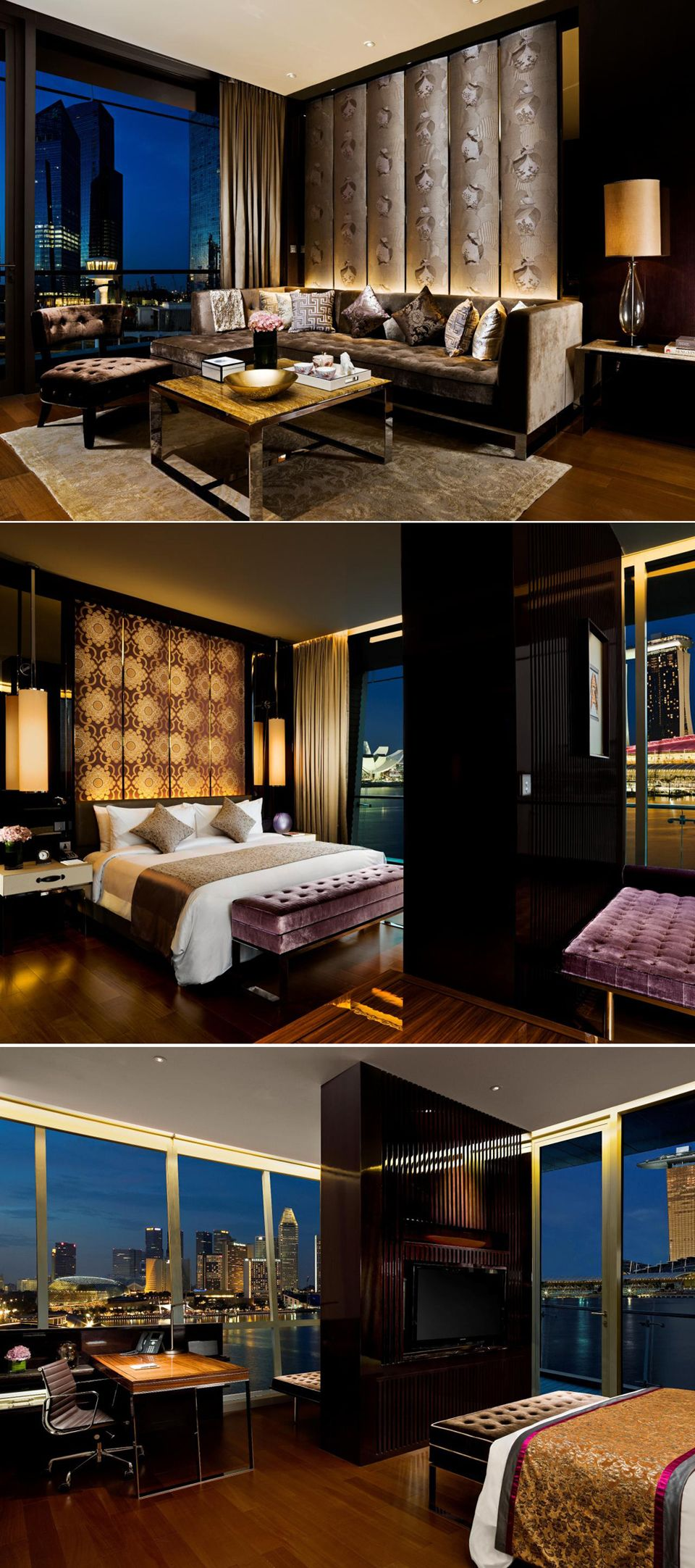 Luxury Interior Design: Luxury Suite Bedroom_The Fullerton Bay Hotel, Singapore By