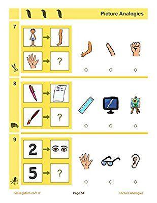 Amazoncom Cogat Test Prep Workbook Kindergarten Level 56