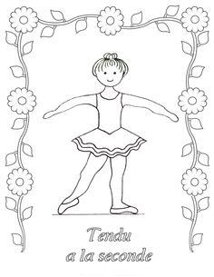Ballet Dance Coloring Pages Ballet Positions Dance Crafts