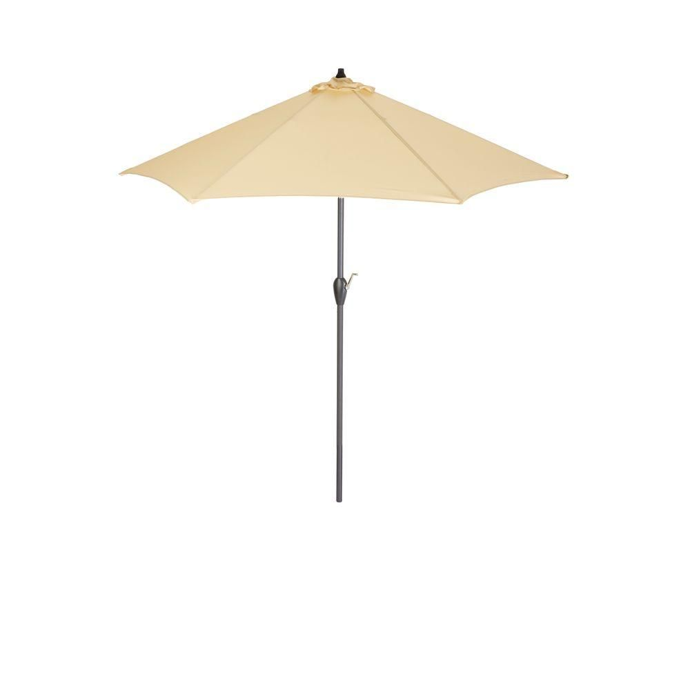 hampton bay 9 ft aluminum patio umbrella in roux solid products