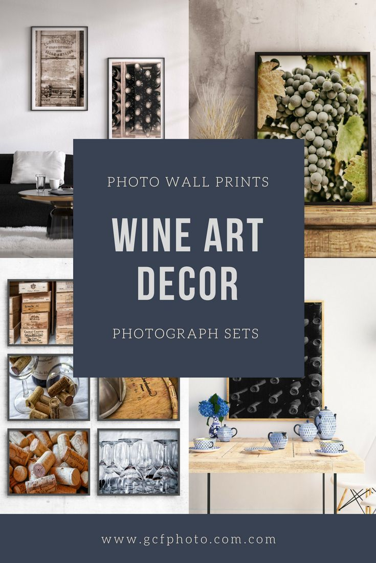 Kitchen and dining room wall decor ideas on a wine theme for gallery