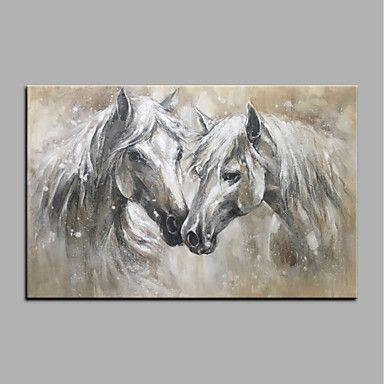 Peinture à l\u0027huile Hang-peint Peint à la main - Animaux Animaux