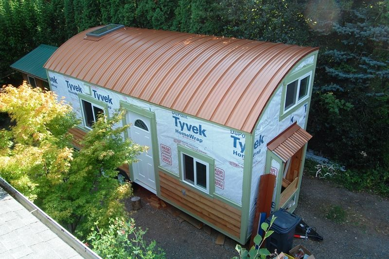 Best Tiny House On Wheels Copper Penny Curved Metal Roof 400 x 300