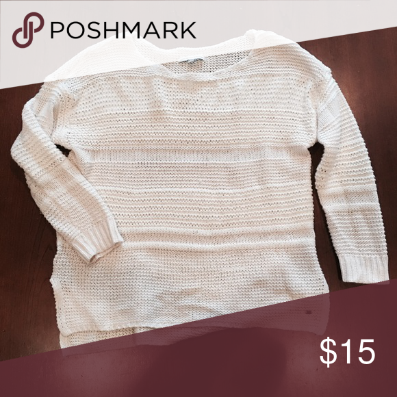 Loose knit cream sweater | Flaws, Scoop neck and American eagle ...