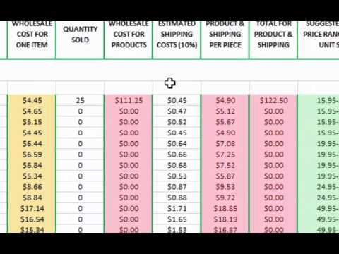 Dye Sub Business - Using the FREE Condé Pricing Spreadsheet - free business spreadsheet