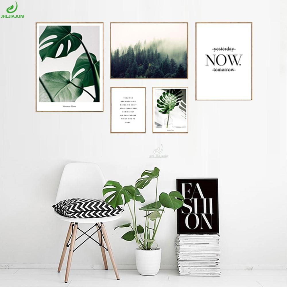 Home Scandinavian Decoration Nordic Style Green Leaves