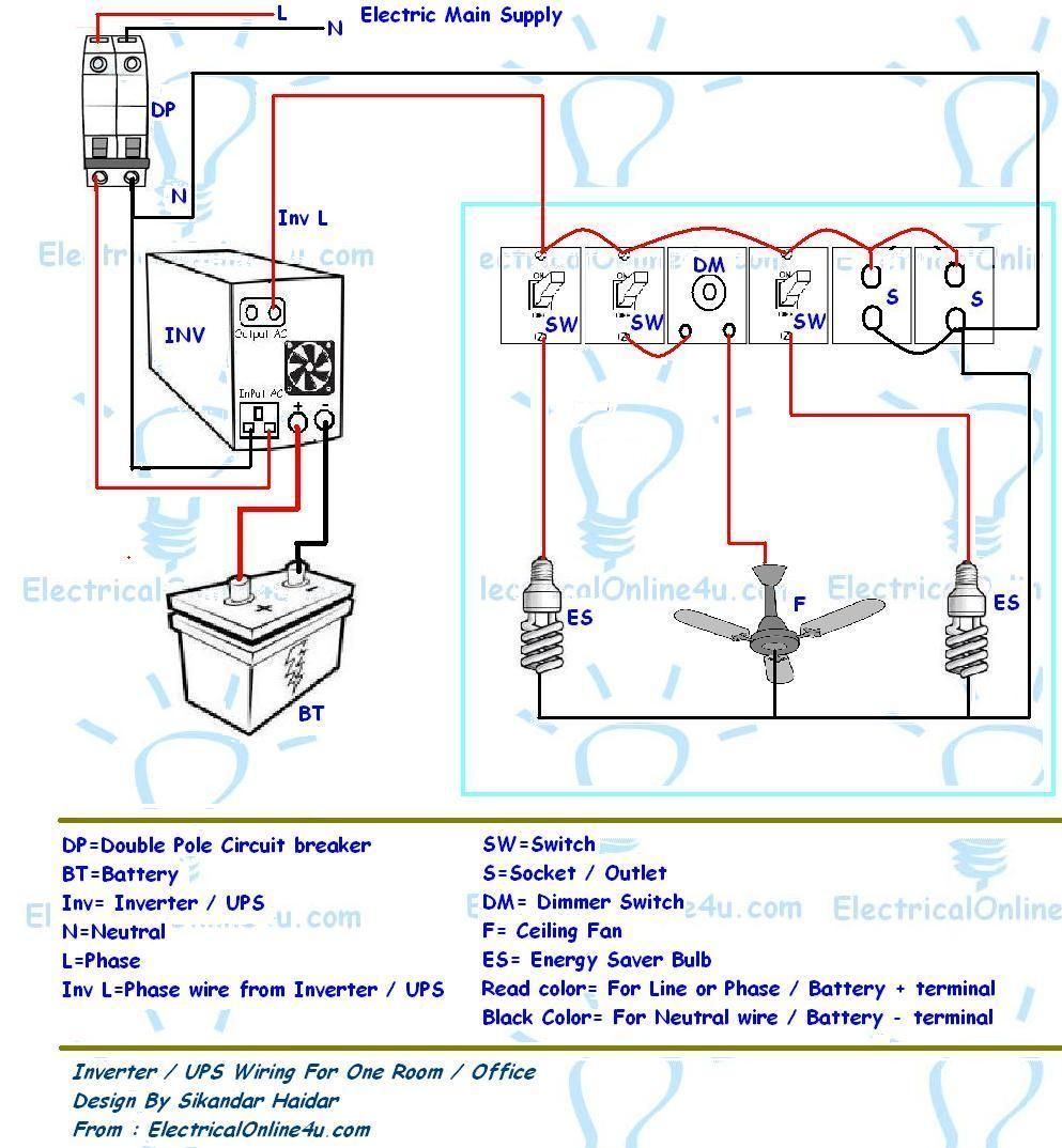 Single Phase Wiring Diagram For House House wiring
