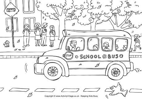 Llega el autobús | Back to school, dibujos para colorear de Activity ...