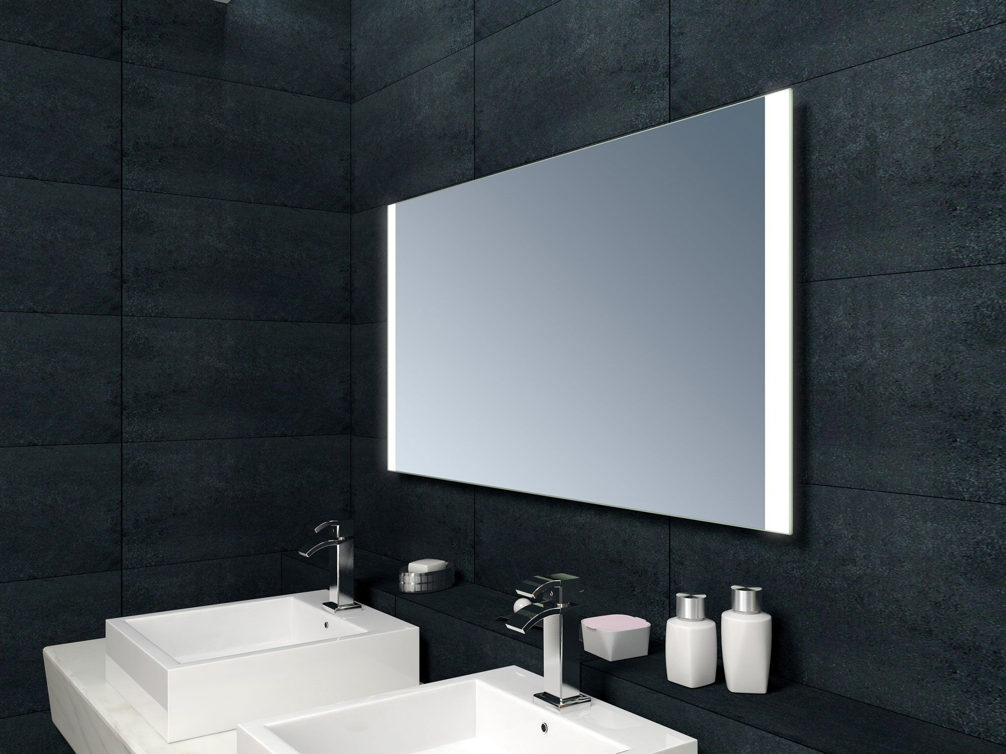 Neptune LED Mirror With Demister And Infra Red Sensor 650mm X 1200mm