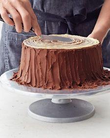 Yule-Log Layer Cake