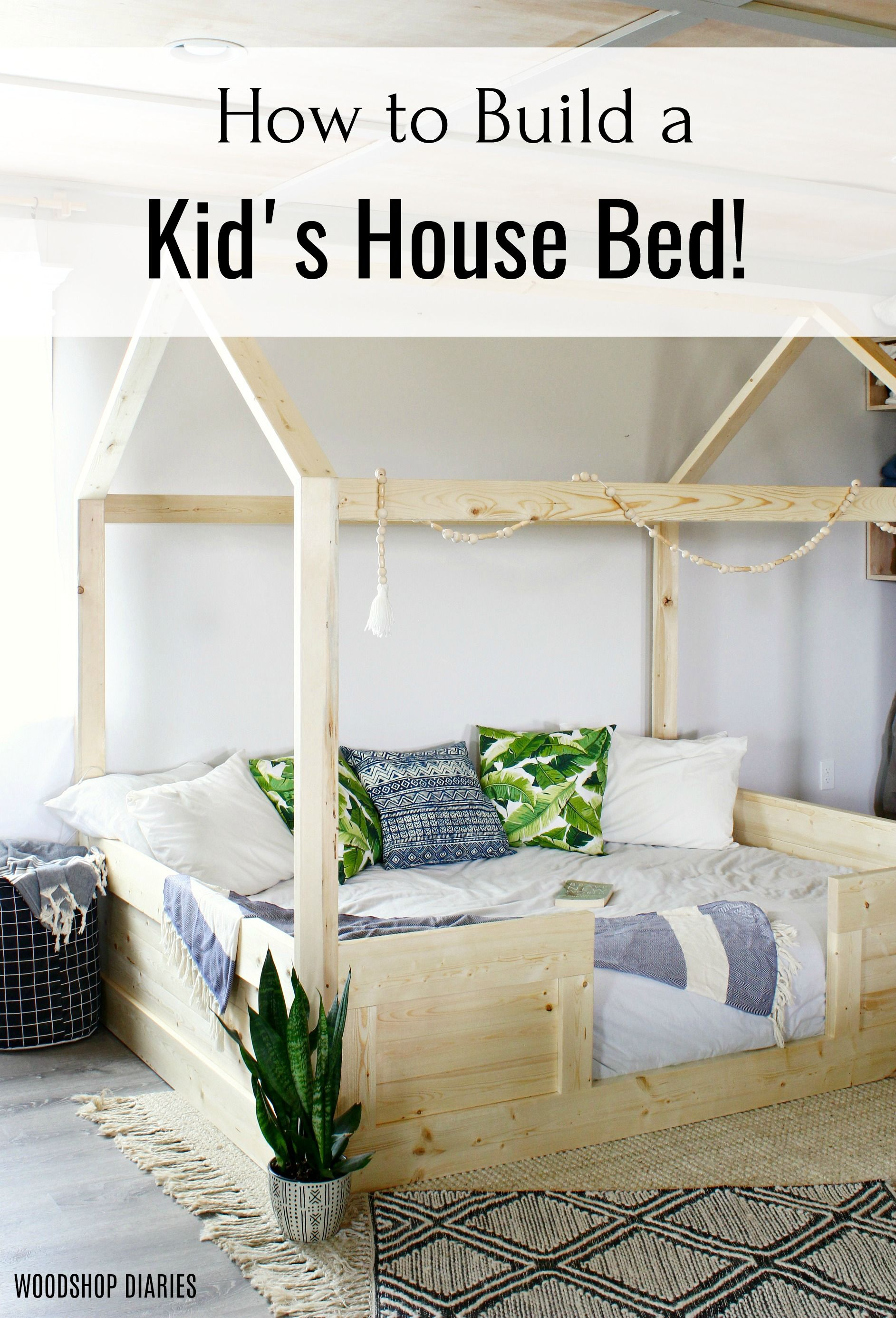 Diy Kids House Bed Twin Size Free Plans To Build Your Own In