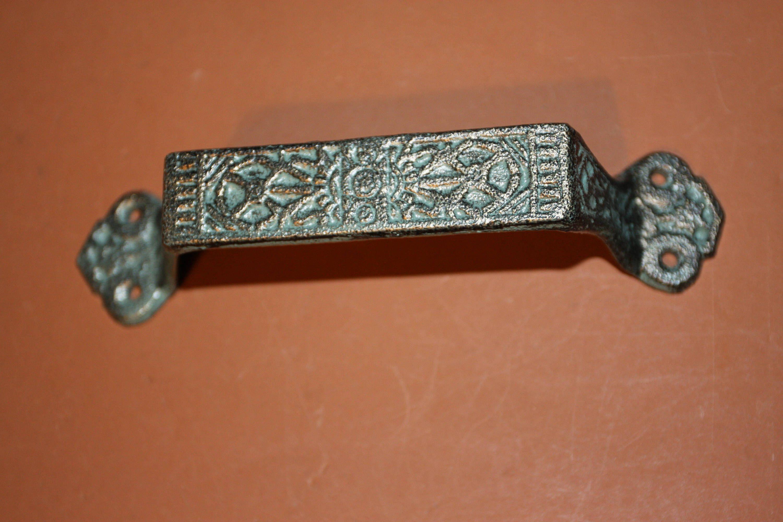 Middle eastern design pulls handles antiqued bronze design pulls