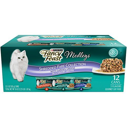 purina fancy feast shredded fare collection cat food 24 3 oz cans