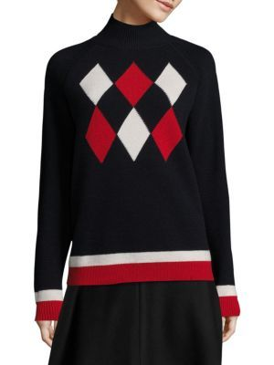 MONCLER Maglione Argyle Sweater. #moncler #cloth #sweater