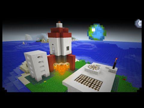 Minecraft How To Make A Rocket Station Youtube Minecrafty