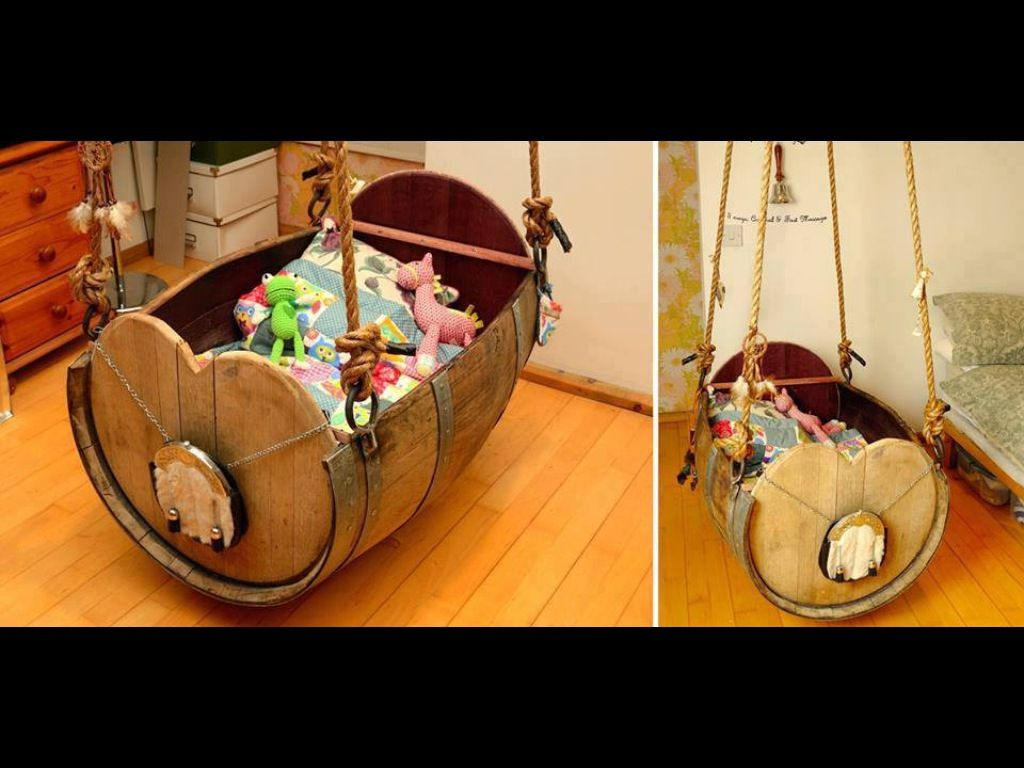Barrel Crib Baby Things Pallet Projects Cribs Pallet