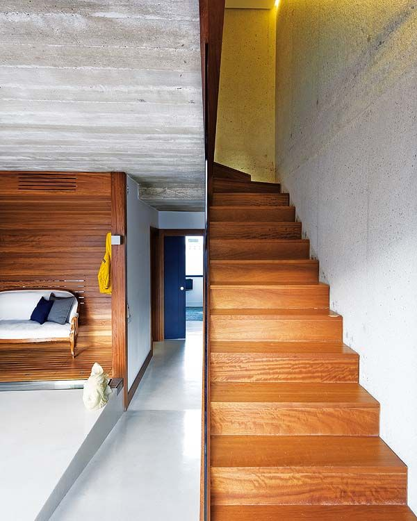 concrete and wood stairs stairs Pinterest