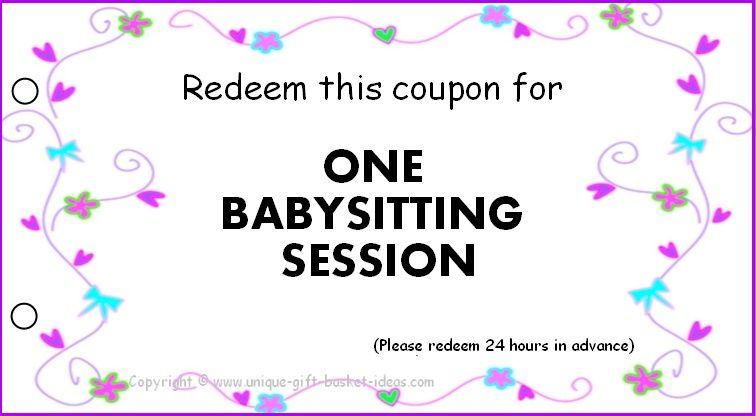 Free Babysitting Coupons PrintablePinned By Conceptcandieinteriors