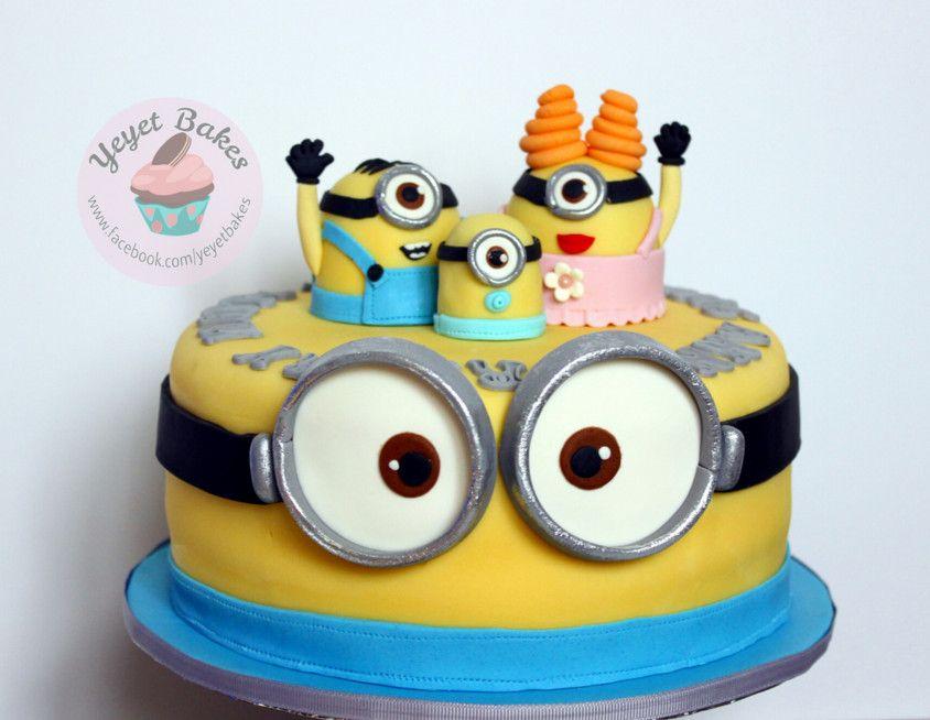 Baby Shower Minions Part - 35: Minion Baby Shower Cake