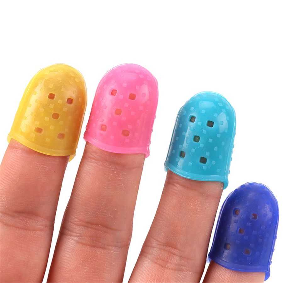 Clothing, Shoes & Accessories 10pcs Fingertip Protector Fingerstall Silicone Guitar String Finger Guard Left Hand Against The Press Sore Finger Ballad Guitar Customers First