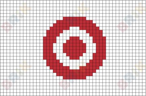 Target Corporation Logo Pixel Art Design Pixel Art Art