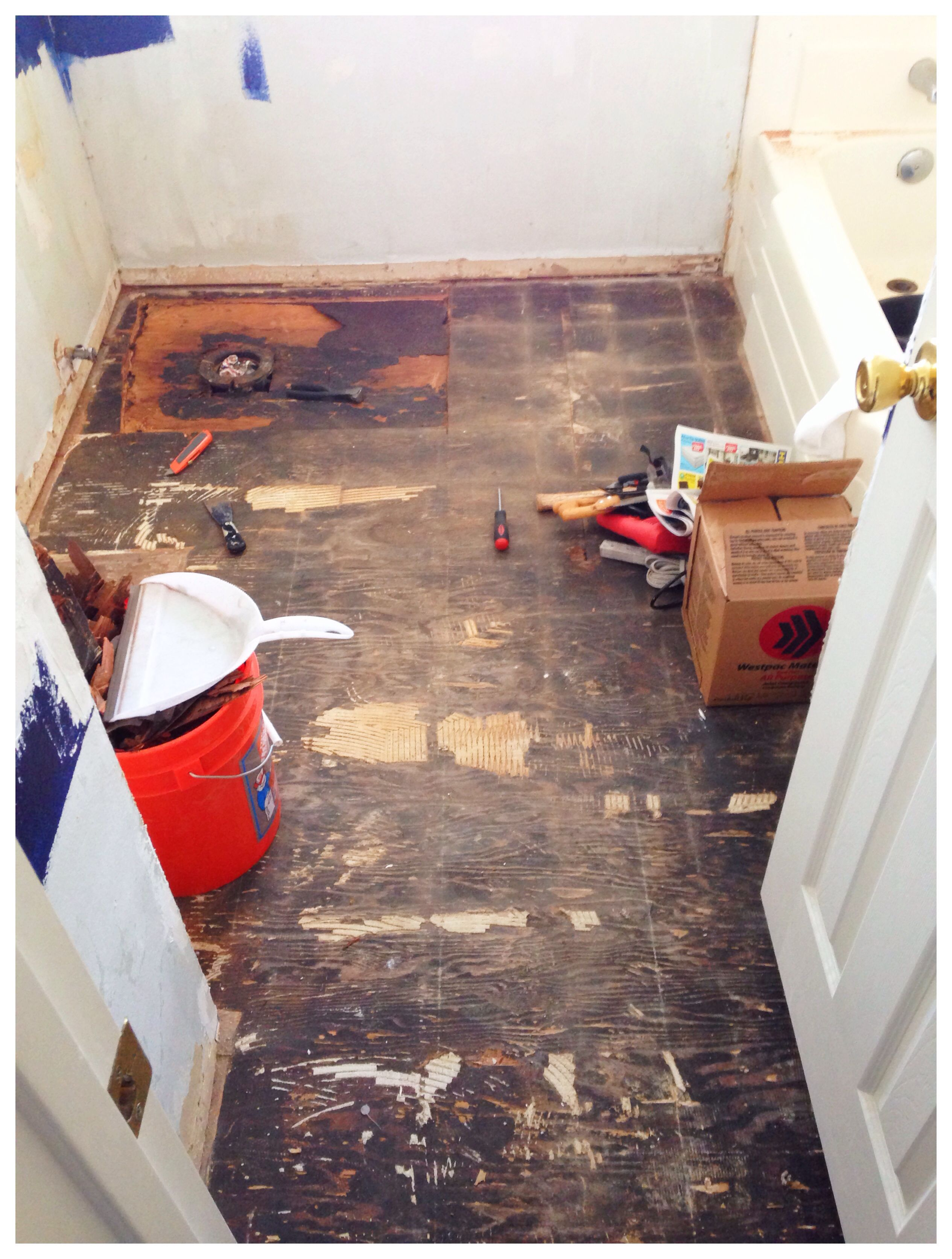Park Art|My WordPress Blog_How To Demo A Bathroom Tile Floor