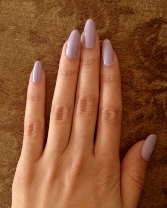 Light Purple Almond Shaped Nails Pinterest
