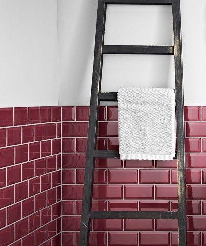 Kitchens · MH Raspberry Bevel Tile